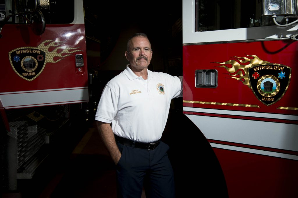 New Winslow Fire Chief Ronnie Rodriguez stands for a portrait Tuesday at the Winslow Fire Department.