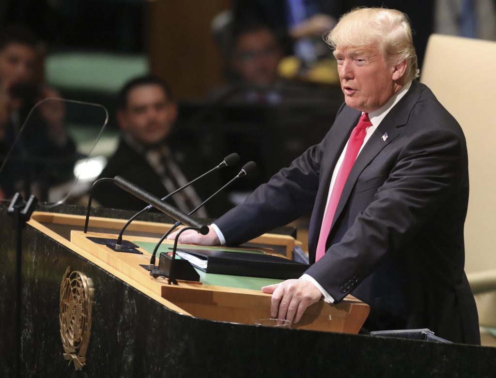 Trump blasts globalism in address to UNGA
