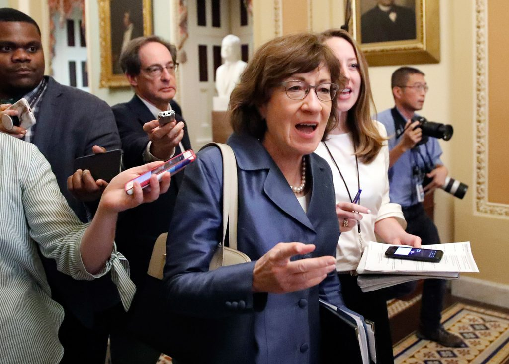 Sen. Susan Collins, R-Maine, said Monday that she supports a broader investigation of Supreme Court nominee Brett Kavanaugh.