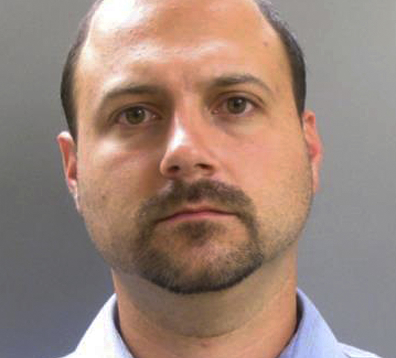 Booking photo of Anthony Helinski, of Lawrence, Mass.