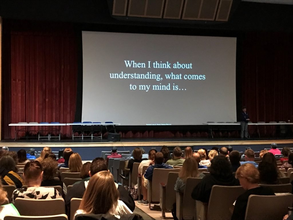 The new superintendent of School Administrative District 49 introduced a group of roughly 200 SAD 49 teachers and teaching assistants Thursday morning to a teaching framework that focuses on bolstering students' understanding of what they are learning and why they are learning it, rather than working toward meeting a testing or curriculum requirement.