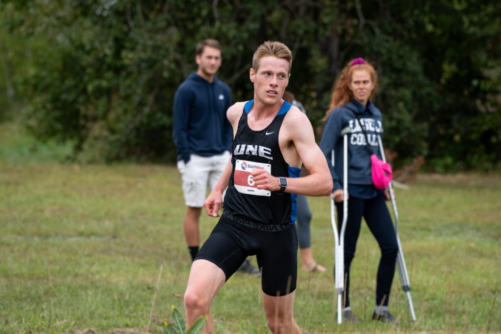 University of New England sophomore Jacob Hickey is off to a strong start to the cross country season this fall.