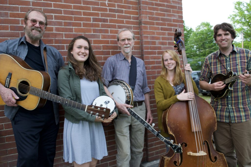 Sandy River Ramblers, from left, are Stan Keach, Dana Reynolds, Bud Godsoe, Julie Davenport and Dan Simons.