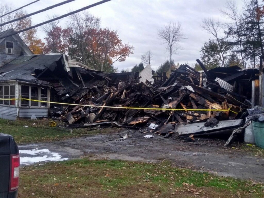 A fire that destroyed this farmhouse Saturday on Hartland Road in St. Albans rekindled again Sunday. Firefighters were dispatched around 3 a.m. and cleared the scene by 8:30 a.m.