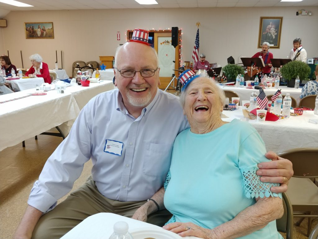Charlie Conley, left, with Dorothy Belanger-Smith.