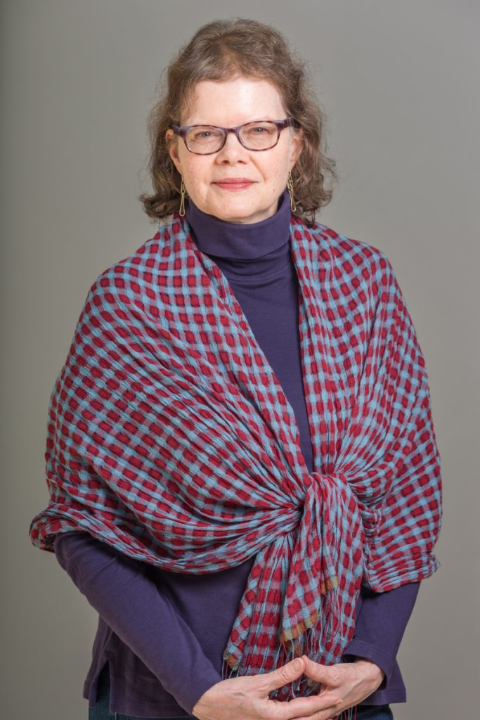 A portrait of Julie Ault at the Museum Tamayo, in Mexico City on Sept. 20.