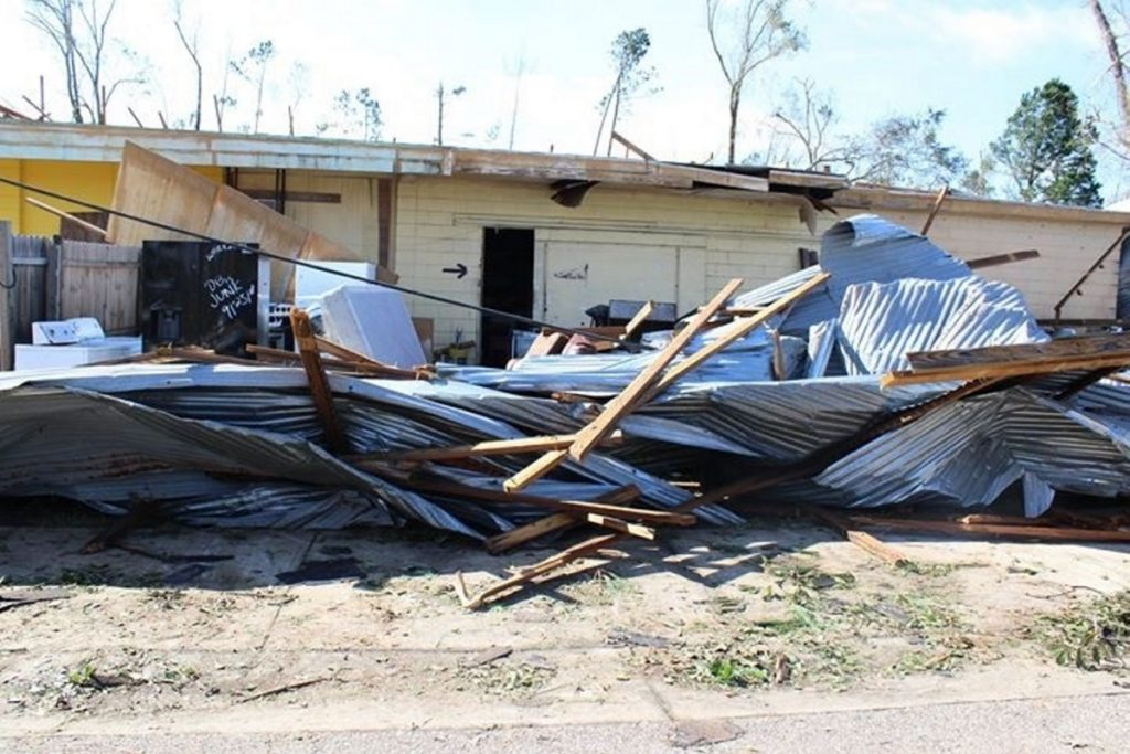 Hurricane Michael devastated a downtown business in Blountstown, Fla., a town of about 2,500 people in the panhandle.