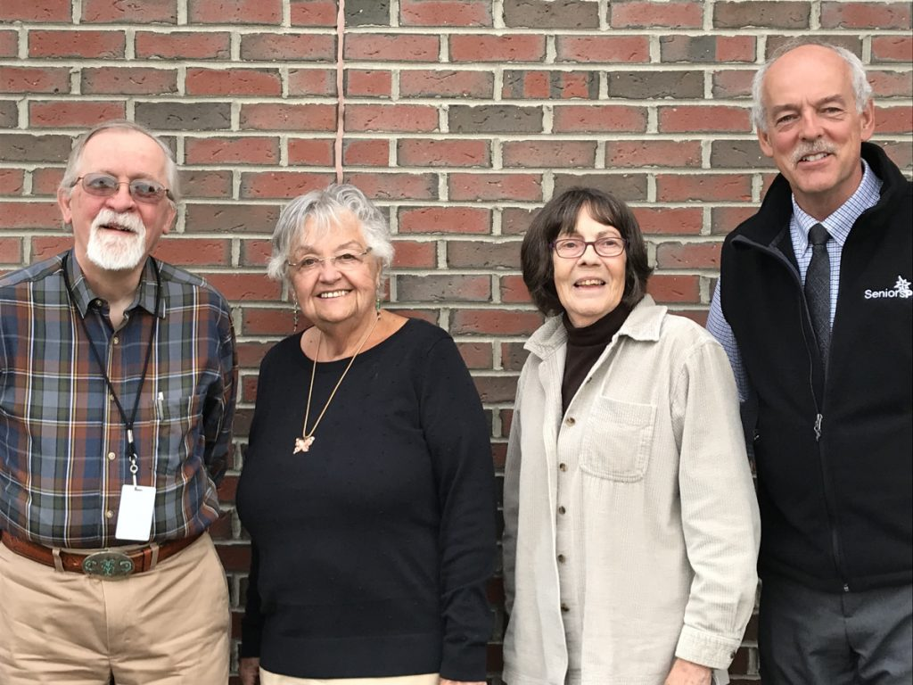 SeniorsPlus' new slate of officers, from left, consists of Secretary Dennis Gray, Chairwoman Pat McCluskey, Vice Chairwoman Patricia Vampatella and Treasurer Larry Morin.