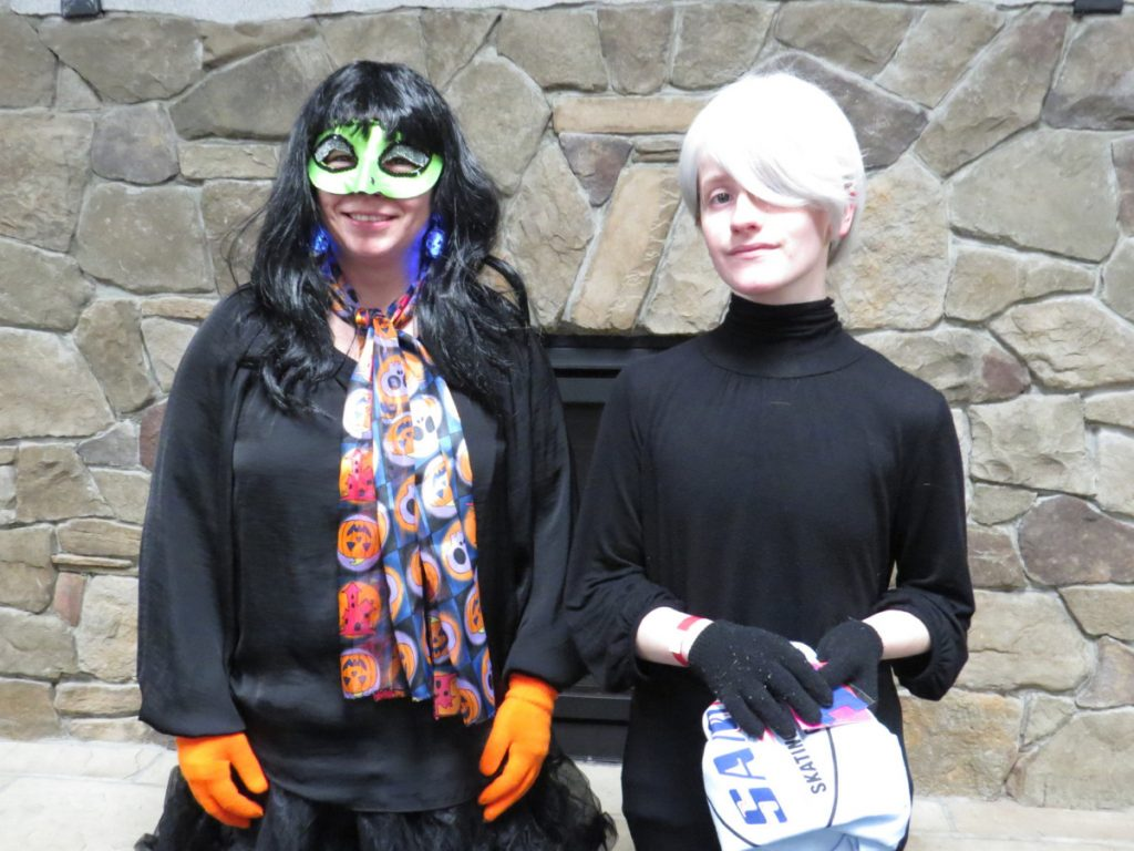Winners in the adult division from left were Rhonda York, of Farmingdale, Scariest Costume; and Amanela Lawson, of Chelsea, Most Creative.