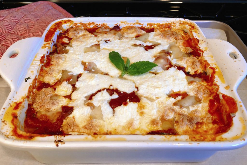 Zucchini Gratinato, a simple Italian dish of thinly sliced zucchini, tomato sauce, basil and fresh mozzarella, is savory and just rich enough to be crave-able but light enough that you feel like you are eating a dish straight from the garden.