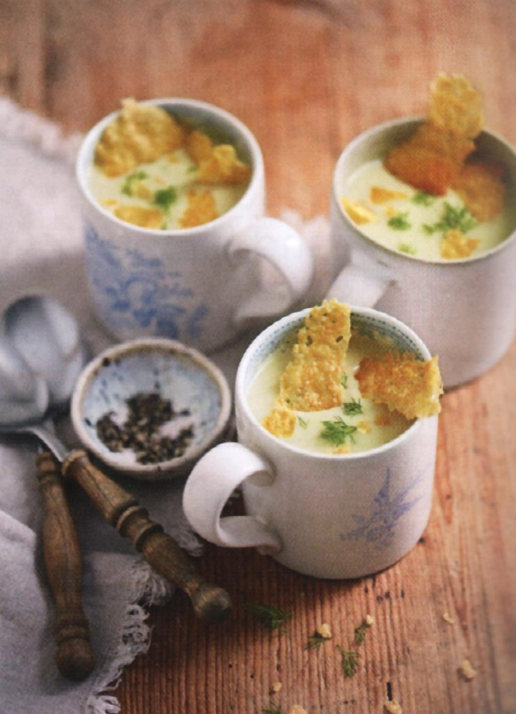 "Velvet Fennel & Parmesan Soup, one of several recipes in ""A Soup A Day"" that use fennel as a main ingredient."