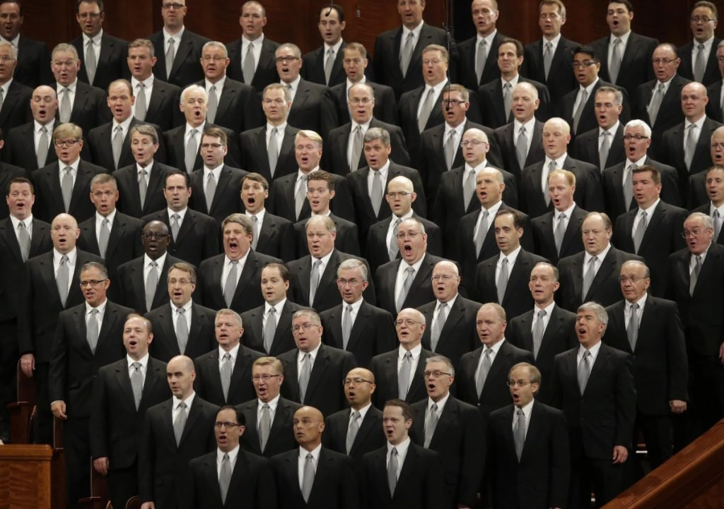 The Mormon Tabernacle Choir performs in 2016.