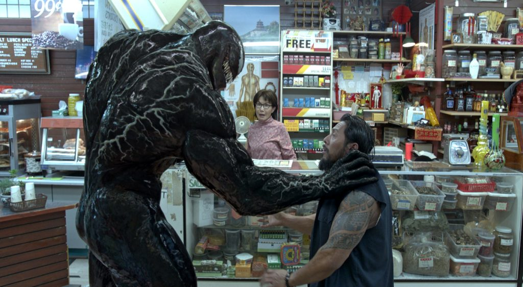 """Venom"" topped the weekend box office again."