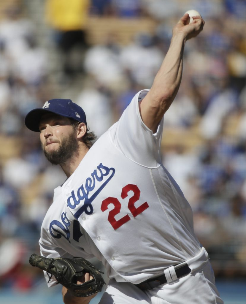 Clayton Kershaw of the Dodgers bounced back from a poor outing in Game 1 of the NLCS, pitching seven innings Wednesday. He allowed one run and struck out nine as the Dodgers won, 5-2.