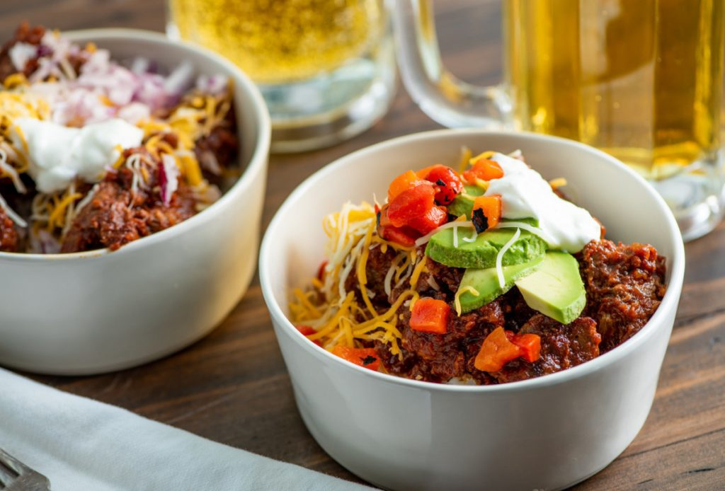 This recipe for Texas Red Chili serves six to eight people.