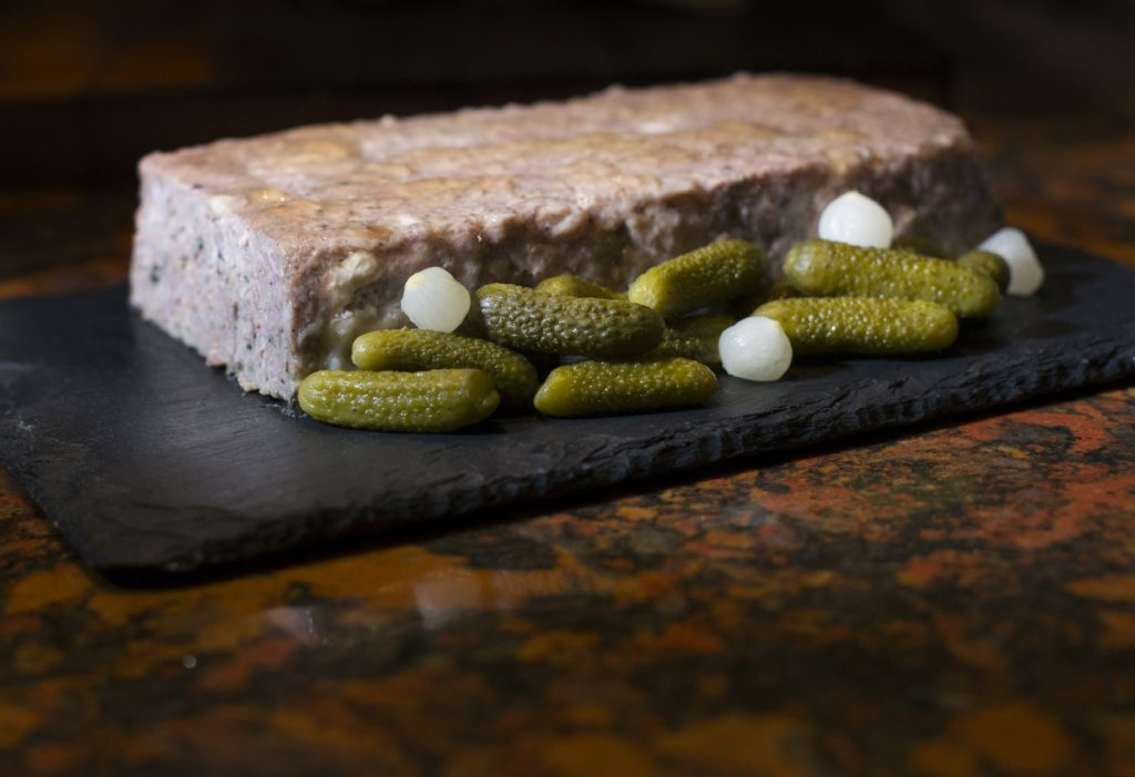 This country pâté takes three days to make, and it requires a meat grinder and a bunch of matching loaf pans. But, hey, if you're a liver lover and up for a big culinary project, go ahead and email Christine Burns Rudalevige for the recipe.