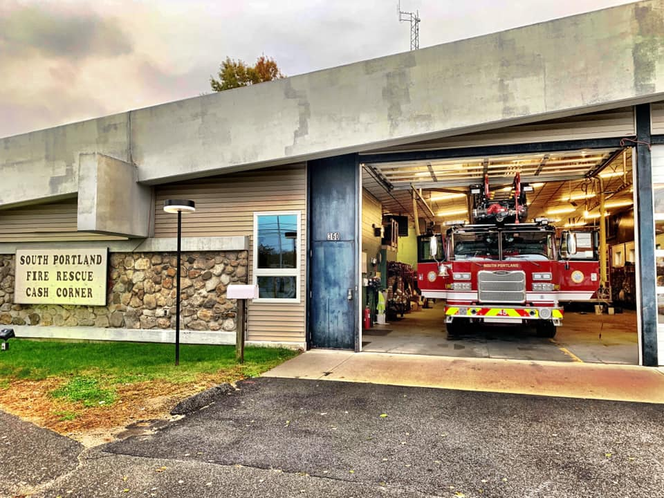 The South Portland Fire Department's new ladder truck was damaged during a training operation.