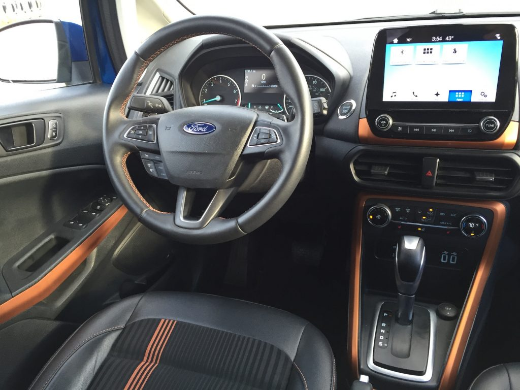 An 8-inch touchscreen, larger than most, offers Ford's Sync 3 functionality with clear graphics for navigation and entertainment. (Photo by Tim Plouff)