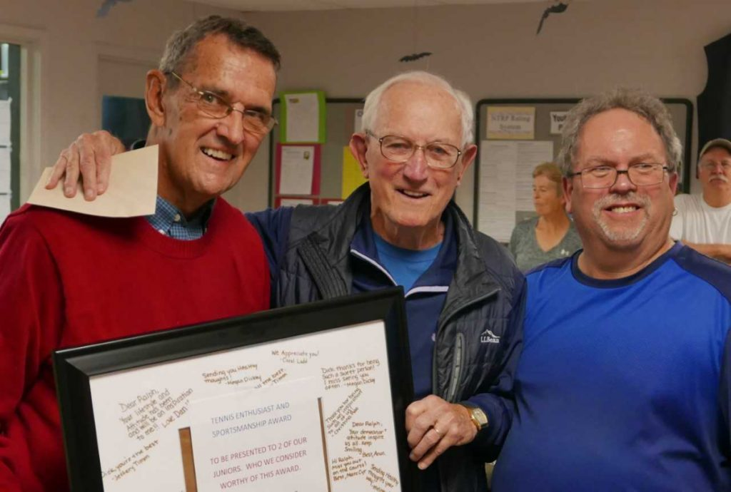 Lifetime Achievement Awards were to present to, from left, Ralph Boisvert, Dick Bachelder and Head Pro at A-Copi Dan Veilleux.