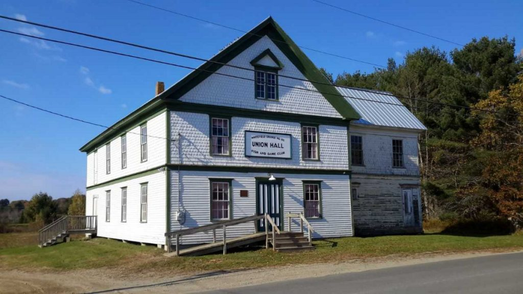 The Kings Mills Union Hall, in Whitefield, was built in 1901. A volunteer organization devoted to its preservation has received a Maine Community Foundation grant to update the heating system.