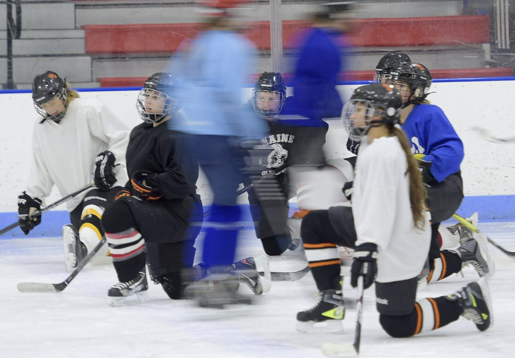 ME H.S.: Girls Hockey Gets Started With First Practice Of New Season