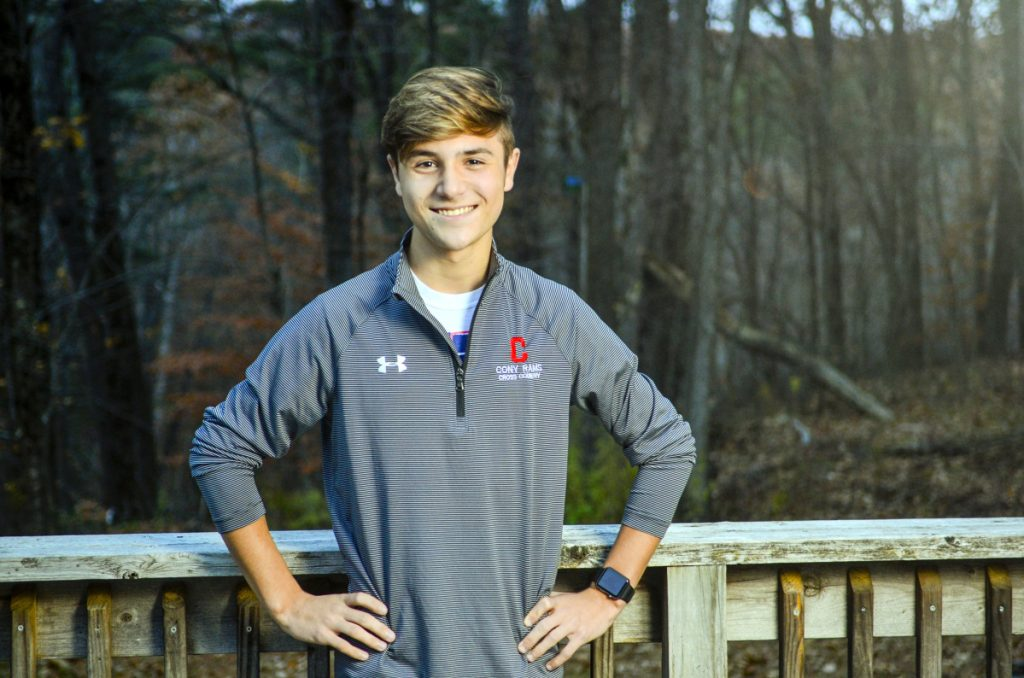 Benjamin Lucarelli, 17, of Augusta, who will be featured on Sunday's episode of America's Funniest Home Videos, poses for a portrait Friday in Augusta.