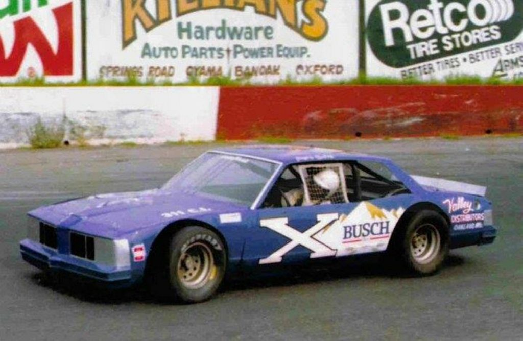 Waterville native Pete Silva competes in a race at Hickory Motor Speedway in the mid-1980s. Silva is being inducted into the New England Auto Racing Hall of Fame on Sunday in Connecticut.