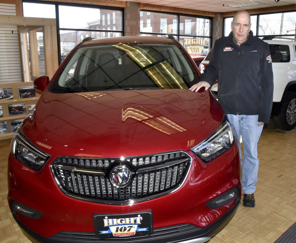 Walter Hight, shown in his Hight Chevrolet dealership in Skowhegan on Wednesday, has been awarded the Alton W. Whittemore Award by the Skowhegan Area Chamber of Commerce and will be honored this Thursday during the Chamber's annual awards banquet.