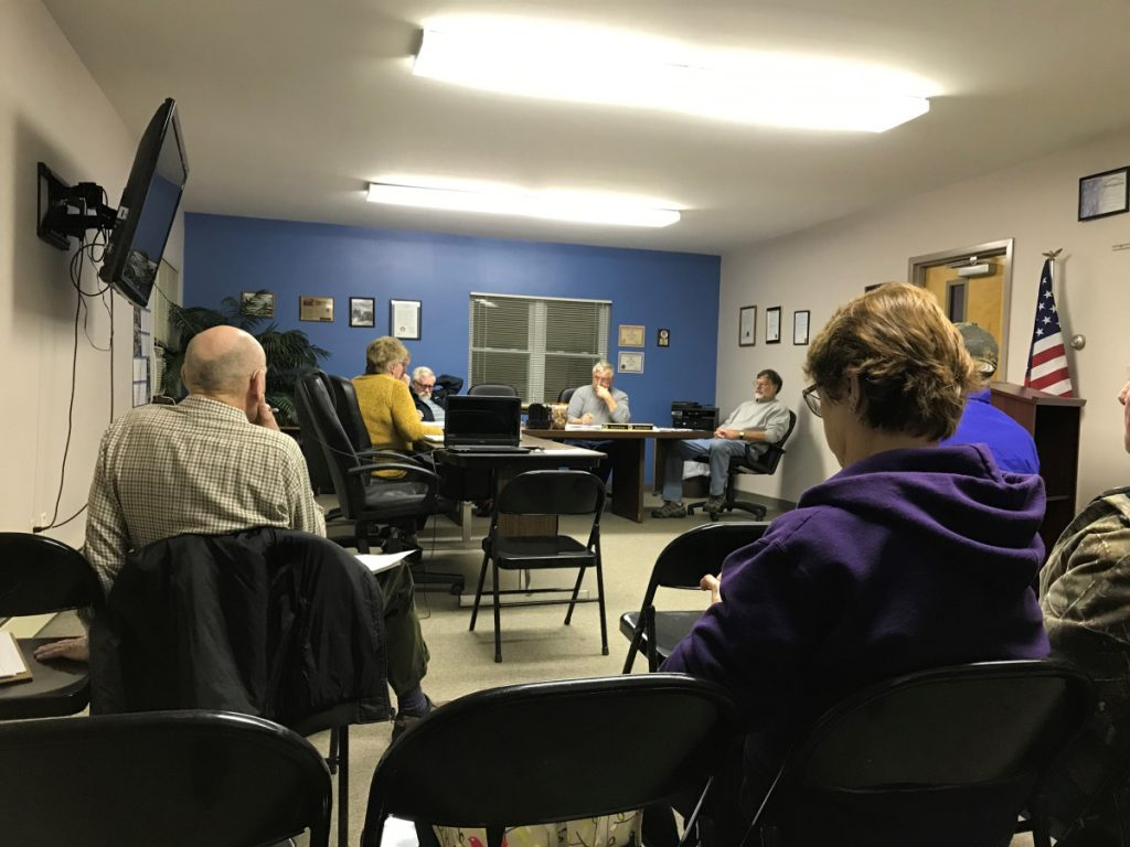 Clinton Town Manager Earla Haggerty tells the Board of Selectmen at its Tuesday meeting she will contact the Maine Municipal Association to explore next steps after a failed revaluation referendum.