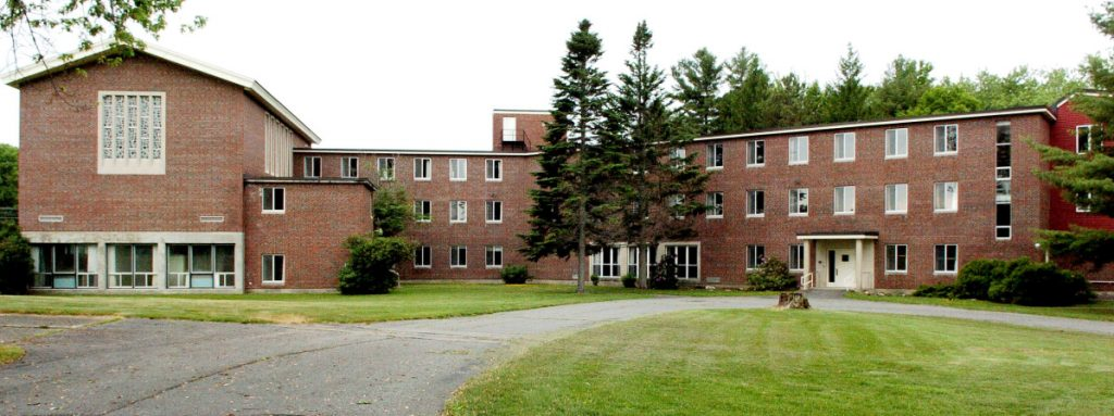The former Ursuline Sisters convent off Mount Merici Avenue in Waterville, shown in 2016, is the subject of a Waterville Planning Board meeting Monday. The board will consider approving the conversion of the convent building into 28 apartments for the elderly.