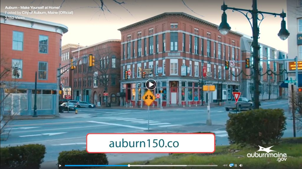 The city of Auburn on Monday released the first in a series of video advertisements leading up to its 150th anniversary celebration starting Dec. 31.