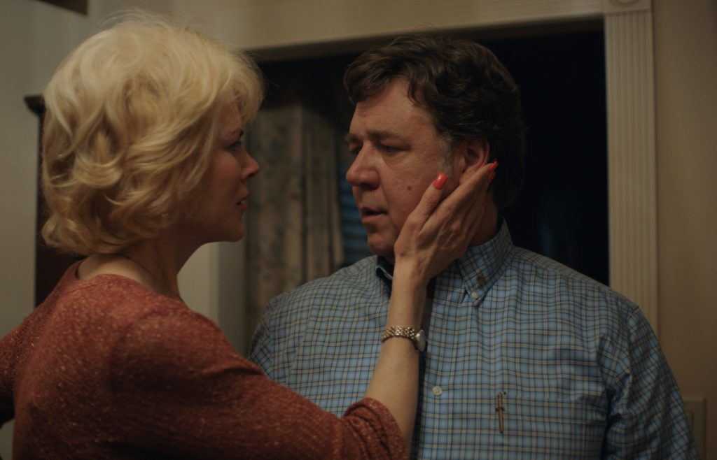 "Nicole Kidman stars as ""Nancy"" and Russell Crowe stars as ""Marshall"" in Joel Edgerton's ""Boy Erased."""