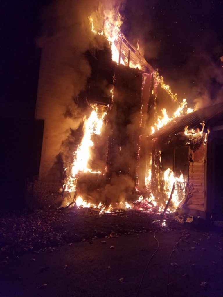An early-morning fire severely damaged a single-family home on Methodist Road in Westbrook on Monday, Nov. 12, 2018
