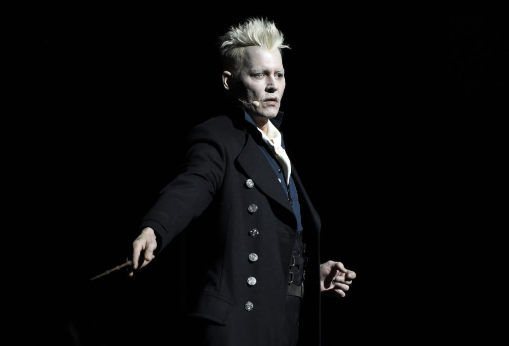 "Johnny Depp portrays Gellert Grindelwald in the upcoming ""Fantastic Beasts"" sequel."