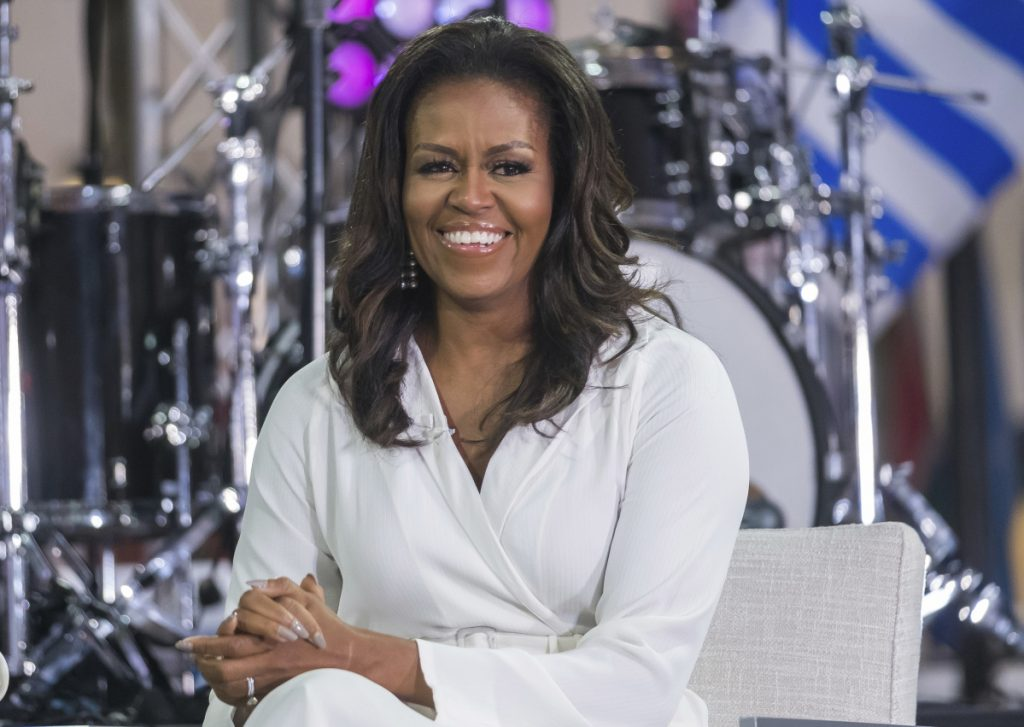 Michelle Obama participates in the International Day of the Girl on television in October.
