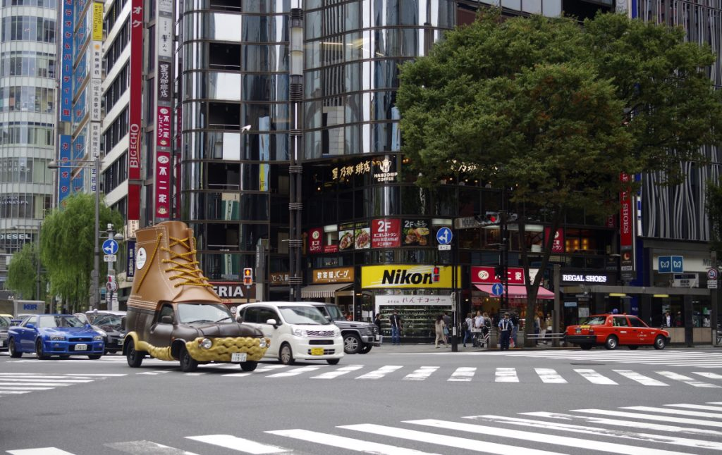 L.L. Bean's Bootmobile prowls the streets of Ginza, Central Tokyo, this fall. The Maine retailer has unexpectedly thrived in Japan, one of the world's most challenging retail markets for outsiders.