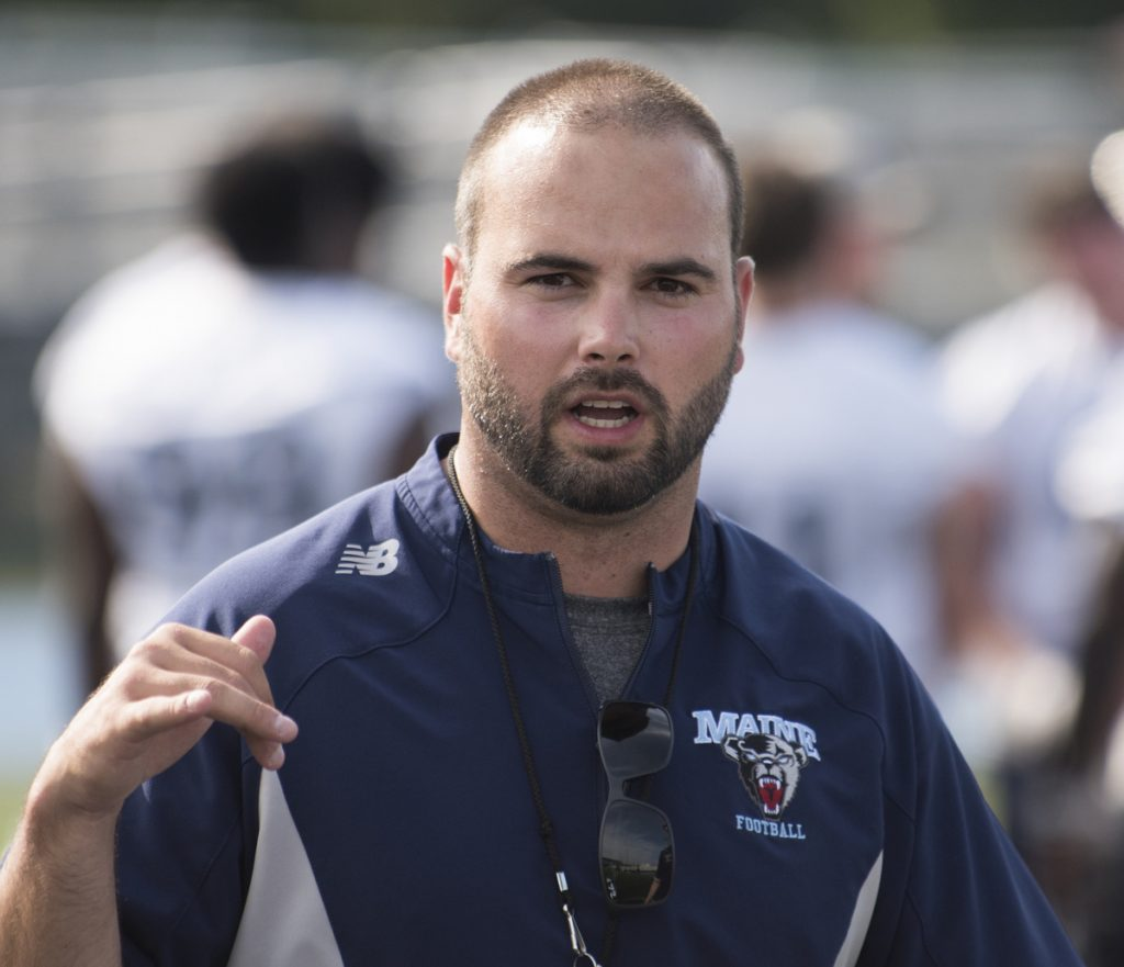UMaine football coach Joe Harasymiak was named the Colonial Athletic Association's Coach of the Year on Tuesday. (Kevin Bennett Photo)