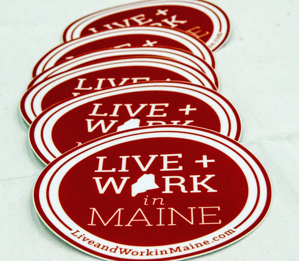 Live and Work in Maine, a workforce attraction program, will offer free T-shirts and other schwag at local taverns, breweries and restaurants starting Wednesday night.