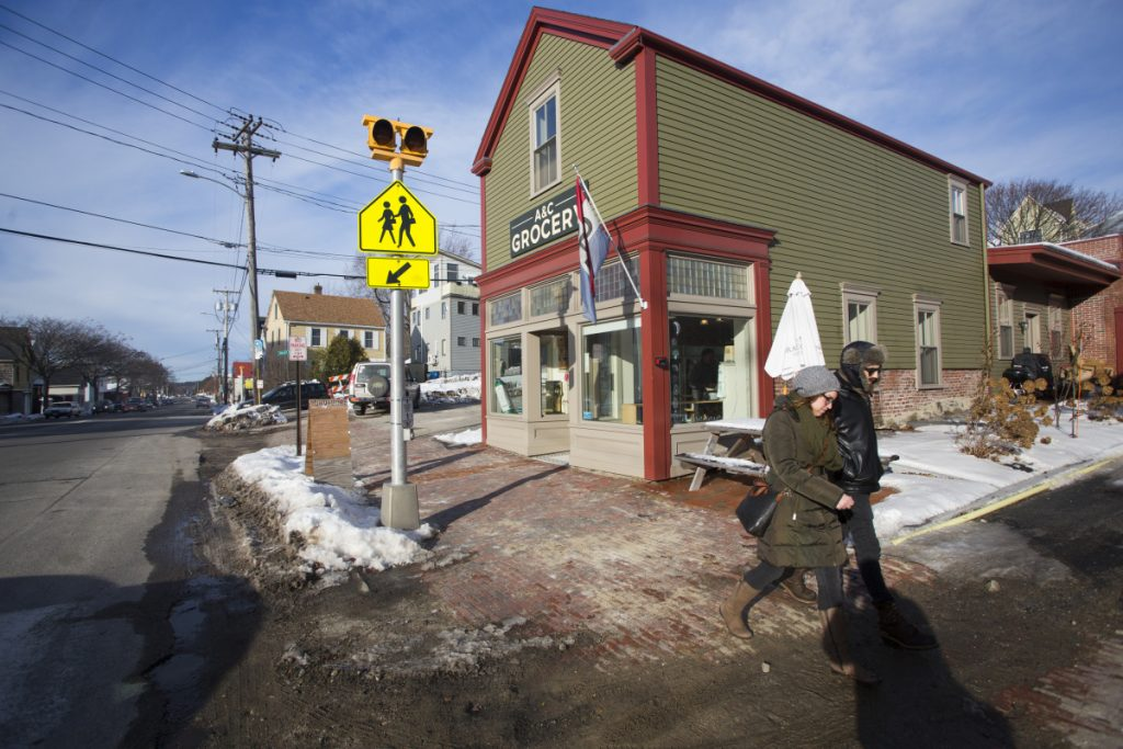 "Businesses along Washington Avenue, including A&C Grocery, have been affected by water and sewer line work that has torn up the road and sidewalk in front of the stores. Owner Joe Fournier: ""It's gone from an industrial corridor to a very cool and dynamic row of interesting, locally owned businesses."""