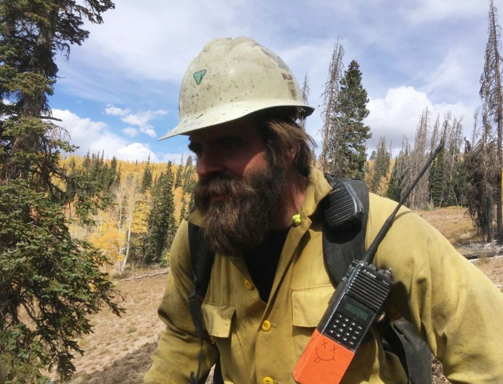Christopher Schott works in Utah with a firefighting crew out of Lakeview, Ore. After being in firefights in Afghanistan and Iraq, members of the new elite crew are bringing their military experience to bear in the most rugged country back home.