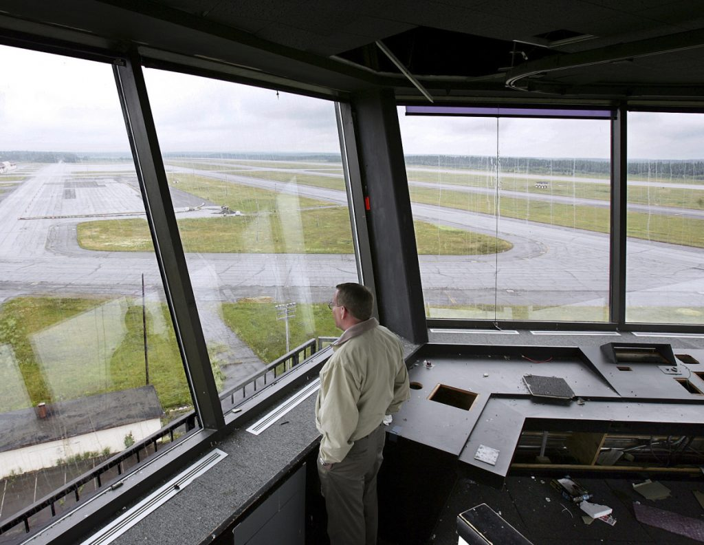 Neil Haines, facilities administration manager for the Loring Development Authority, looks out at the former Loring Air Force Base in Limestone in 2005. A group of science and space enthusiasts want the state to become America's leader in sending tiny satellites into space from the former base.