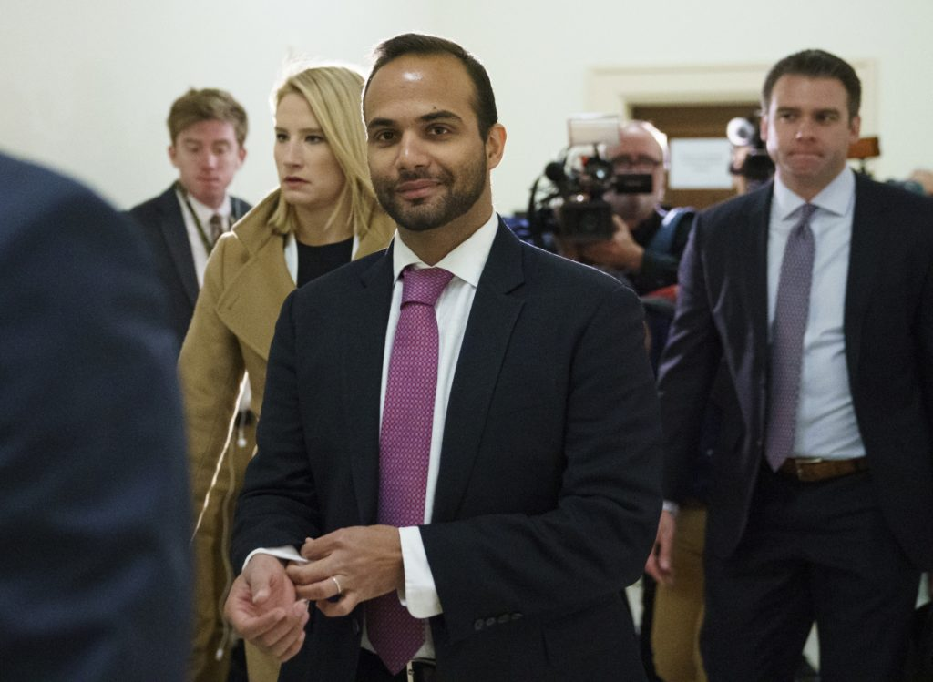 George Papadopoulos, a former Trump campaign adviser, arrived at a minimum-security camp in Oxford, Wisconsin, on Monday to begin serving a two-week prison sentence for lying to the FBI about his interactions with Russian intermediaries during the 2016 presidential campaign.
