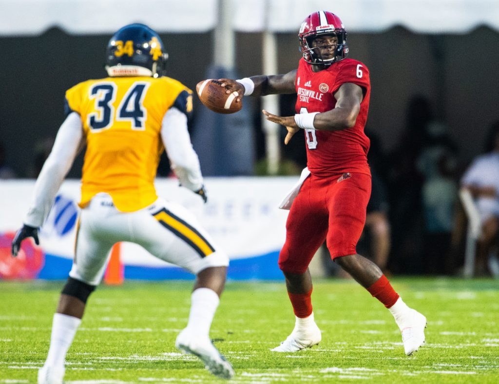 Jacksonville State quarterback Zerrick Cooper, a transfer from Clemson, has thrown for 3,051 yards and 30 touchdowns this season – both school records.