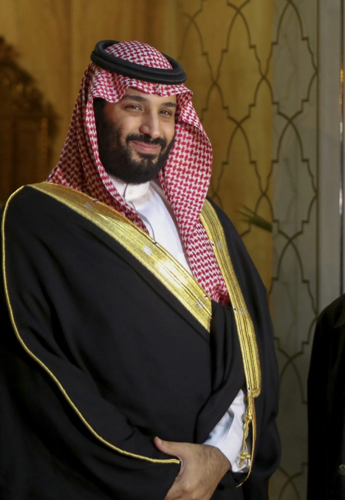 Saudi Crown Prince Mohammed bin Salman arrives Tuesday at the presidential palace in Carthage near Tunis, the capital of Tunisia.