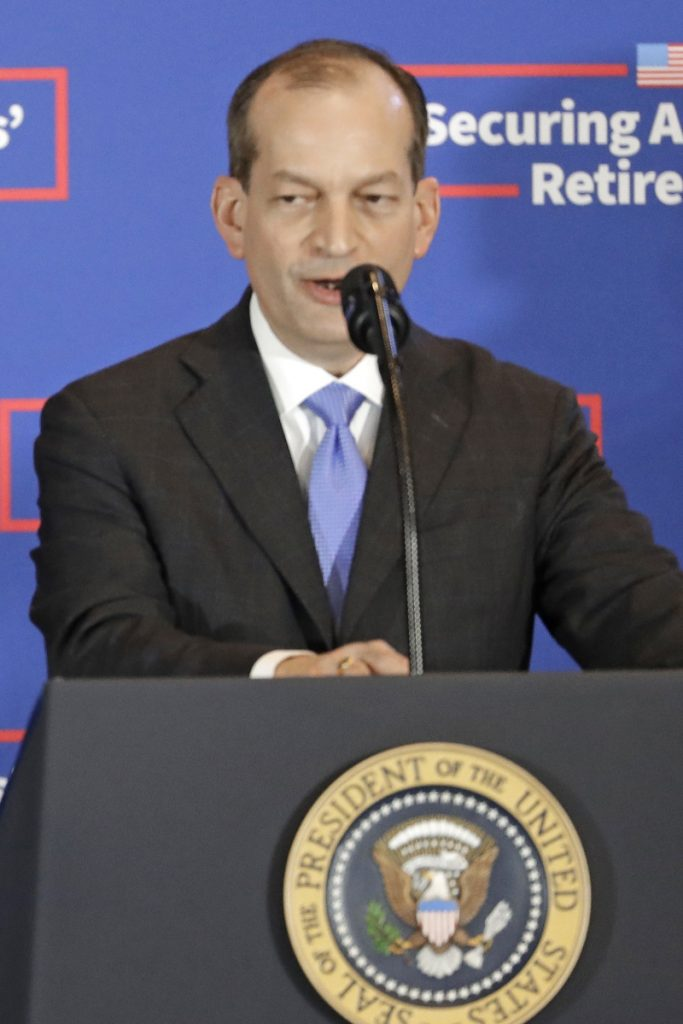 Labor Secretary Alexander Acosta oversaw a deal for a financier accused of sex crimes, the Miami Herald reported.