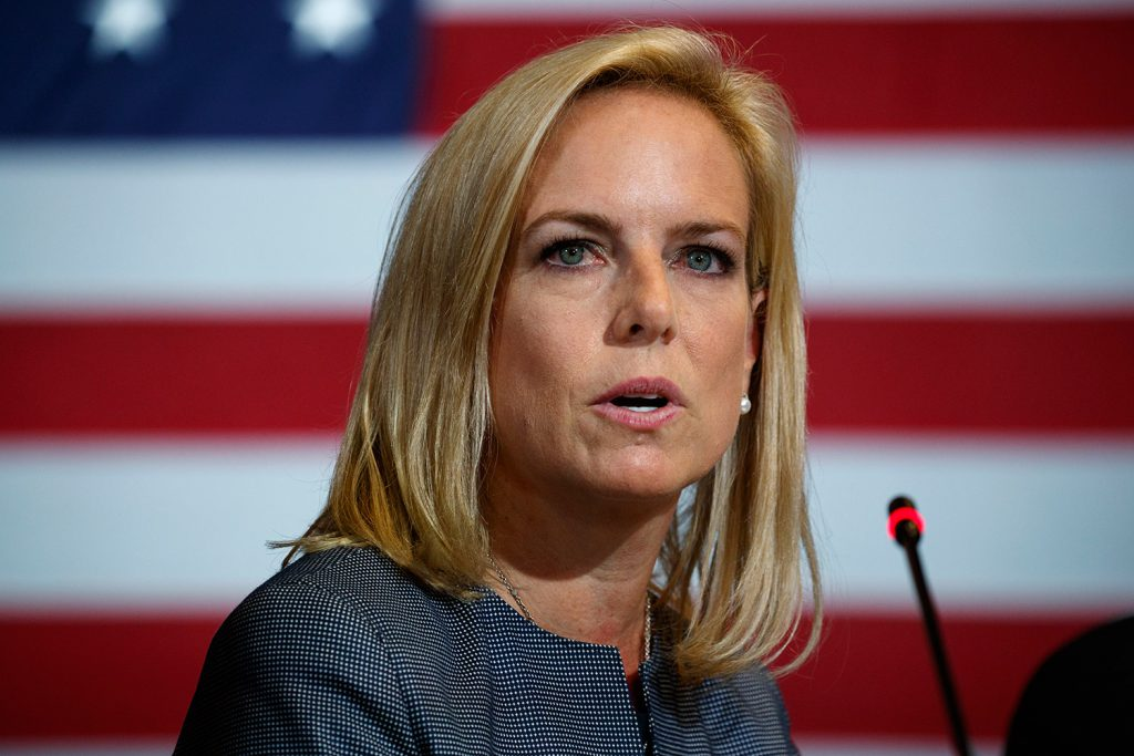 Secretary of Homeland Security Kirstjen Nielsen is expected to leave her job as soon as this week, two sources tell the Associated Press.