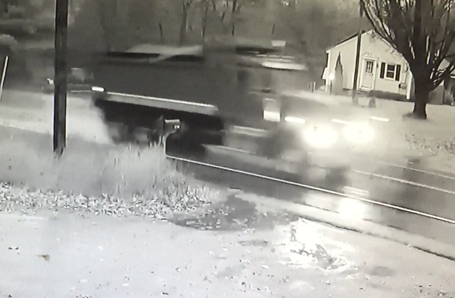 Police want to speak with the driver of this dump truck, who may have seen the fatal crash Nov. 13 on Route 115.