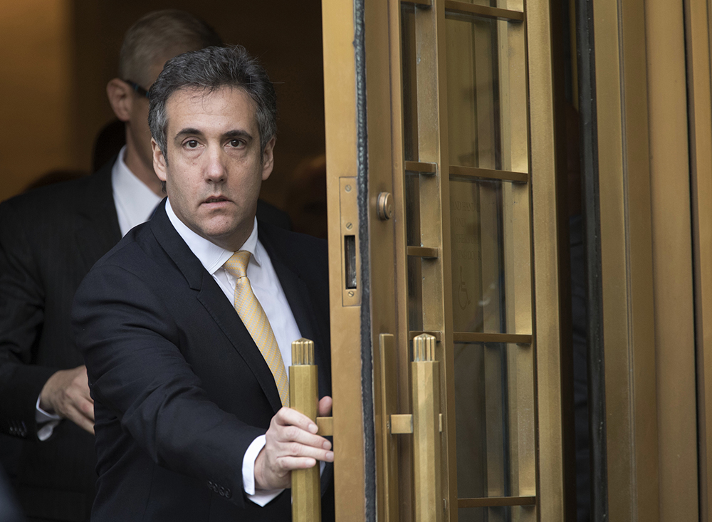 Michael Cohen leaves court, in New York in August.
