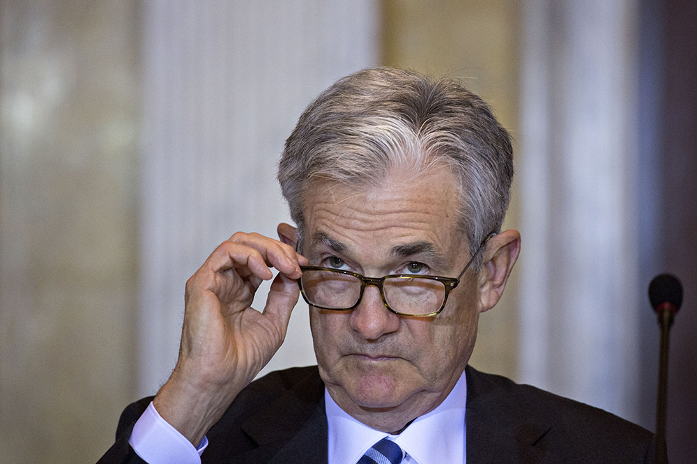 Jerome Powell, chairman of the U.S. Federal Reserve, at a meeting at the U.S. Treasury in October.