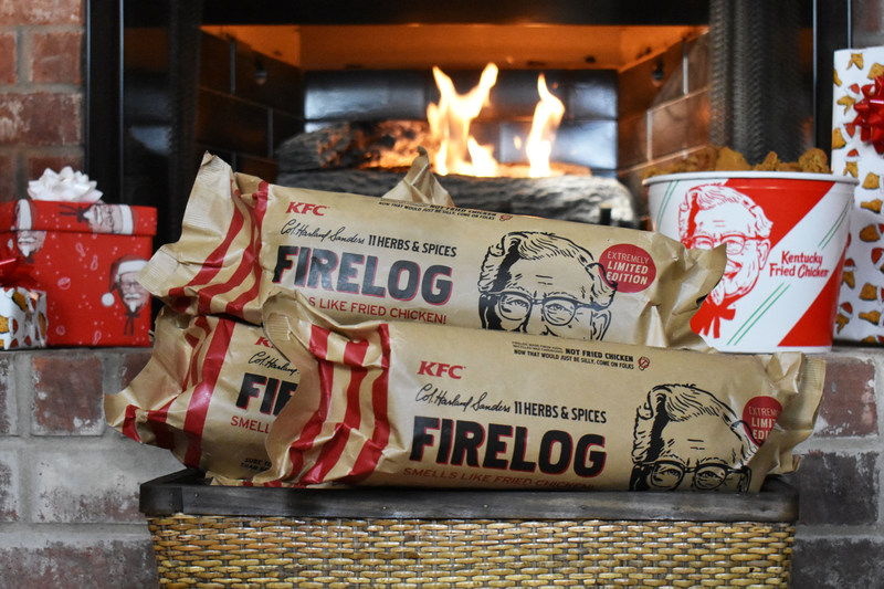 The unmistakable, mouth-watering aroma of Colonel Sanders' secret recipe - now in your fireplace with the KFC 11 Herbs and Spices Firelog.